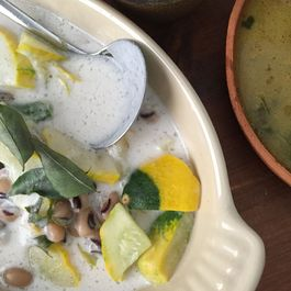 Patty Pan stew with coconut milk (Oallan)