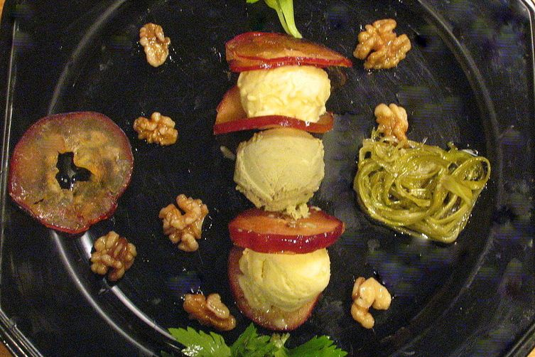 Gelati a la Waldorf- Apple, Celery and Mayo(EVOO) Gelati with Candied Walnuts