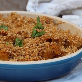 Baked Whole Wheat Pipe Rigate Pasta With Creamy Butternut Squash