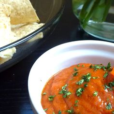 Roasted Red Pepper Dip with Cumin, Lime and Coconut Milk