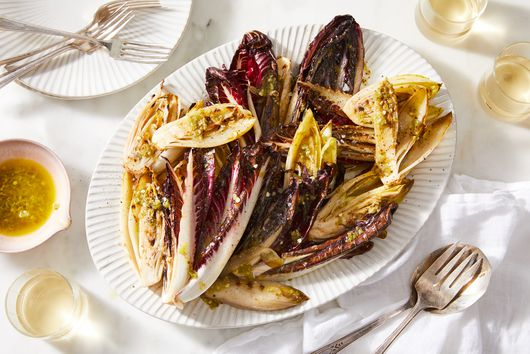 Grilled Chicory Salad With Chile-Fennel Dressing