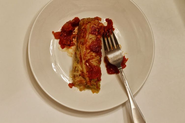 Smoky Stuffed Cabbage Rolls