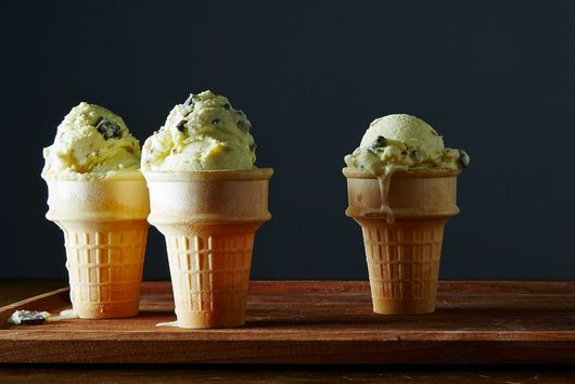 Not Your Neon Green Mint Chocolate Chip Ice Cream