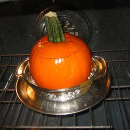 Spicy Stuffed & Baked Pumpkin