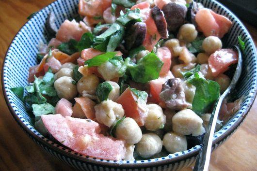 Deconstructed hummus salad