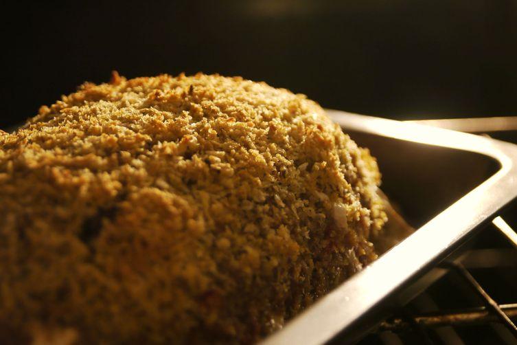 Panko Crusted Mozzarella Stuffed Japanese Curry Meatloaf