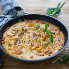 Vegan chickpea sweet potato & yellow beets frittata