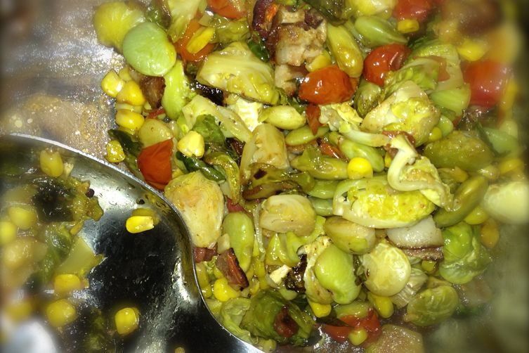 Brussels Sprout Succotash