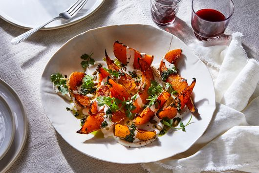 Squash With Chile Yogurt & Cilantro Sauce From Yotam Ottolenghi