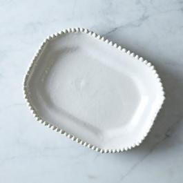 Handmade Ceramic Hexagonal Plate