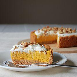 Pumpkin chiffon tart
