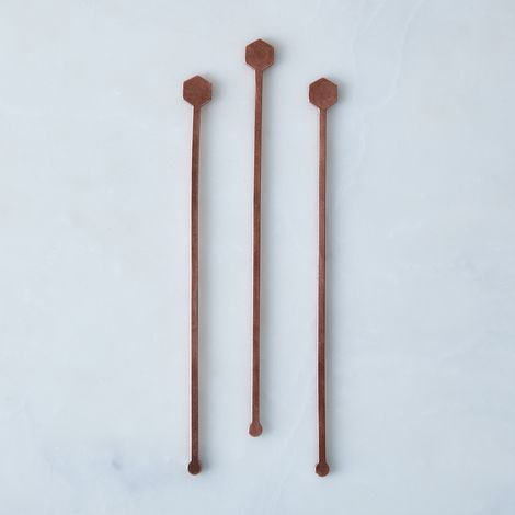 Geometric Metal Drink Stirrers (Set of 3)