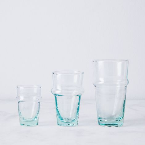 Moroccan Recycled Bottle Glasses & Carafe