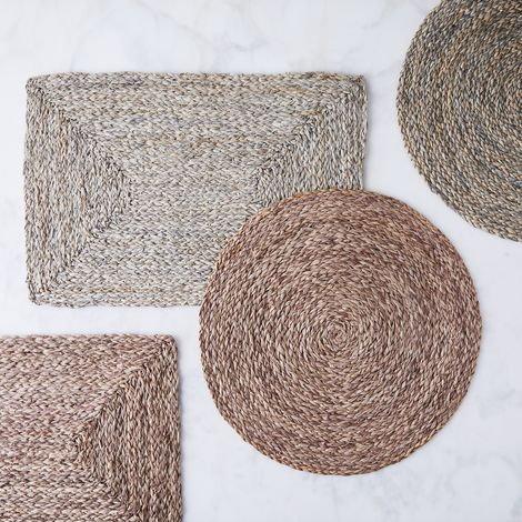 Woven Raffia Placemats (Set of 4)