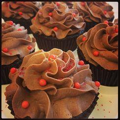 Sriracha Chocolate Cupcakes with Truffle Filling