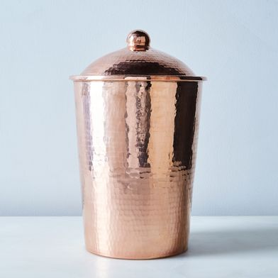 Hammered Copper Kitchen Canister