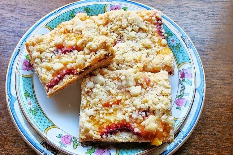 Peach + Cardamom Shortbread Bars Recipe on Food52