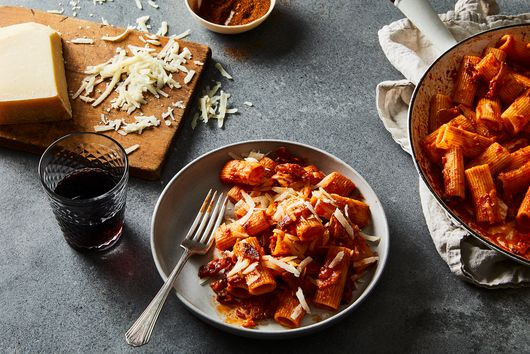 Rigatoni All'Amatriciana in the Style of Felix Trattoria