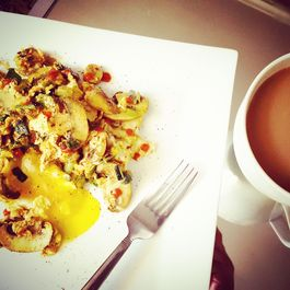Scallion & Turmeric Mushroom Omelette