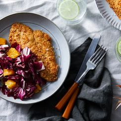 Sesame Chicken with Radicchio & Orange Salad