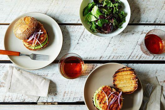 Dinner Tonight: Salmon Burger with Avocado Aioli