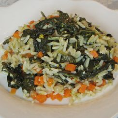 Turnip Sprouts and Carrot Rice – Arroz de Nabiças e Cenoura (Portugal)