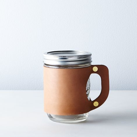 Leather Mason Jar Mug Sleeve