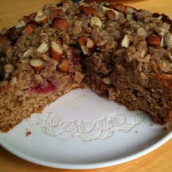 Strawberry Vanilla Coffee Cake