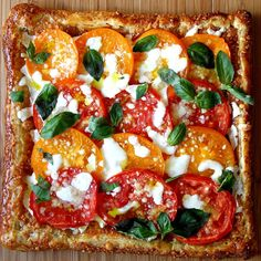 Heirloom Tomato Caprese Tart