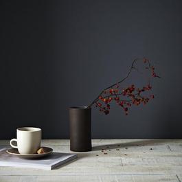 Narrow Brown Cylinder Vase