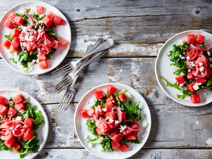 Dinner Tonight: Watermelon Salad with Pickled Onions