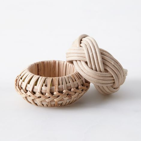 Food52 Woven Cane Napkin Rings (Set of 4)