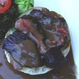 flank steak by michaellockiby
