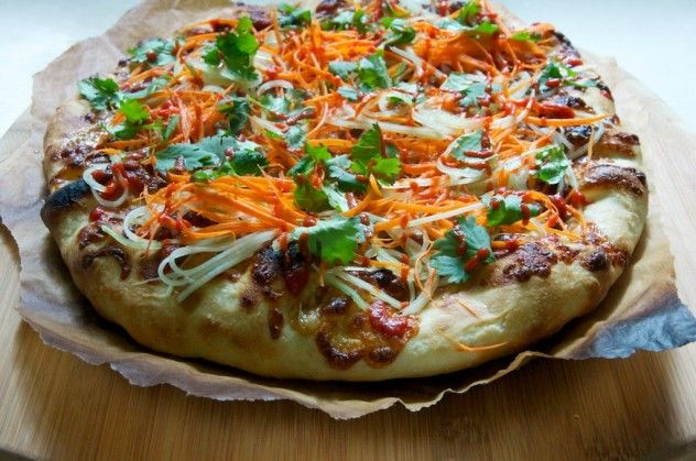 Pork Banh Mi Pizza