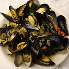 Clams and Mussels in Saffron Cream Sauce