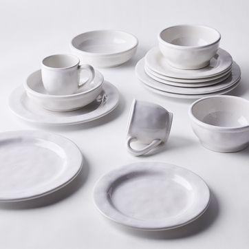 5.25L 12 Pieces Super White Ceramic Spoons