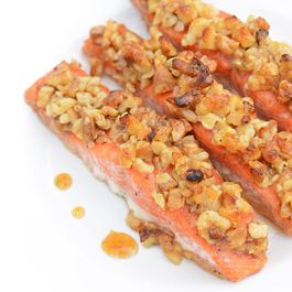 Honey Walnut Crusted Salmon
