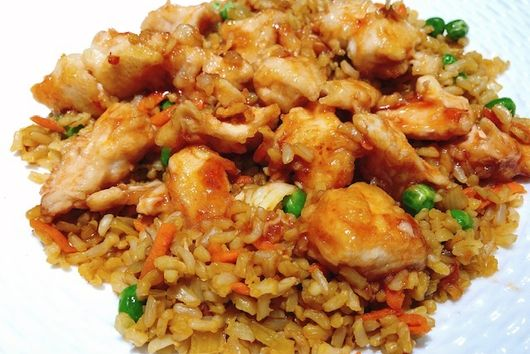 Sweet & Sour Chicken With Fried Rice