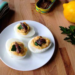 Briny Mediterranean Deviled Eggs