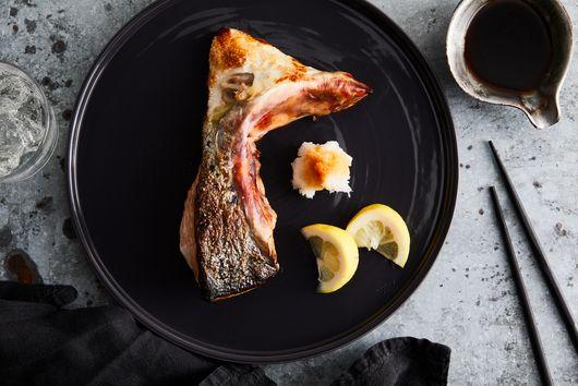 Salt-Grilled Salmon Collar
