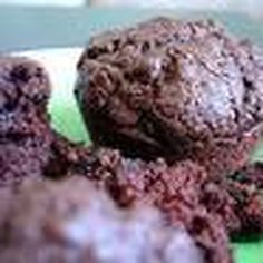 Dark Chocolate Avocado Plum Muffins