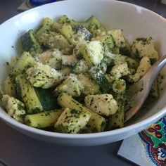 Rigatoni and Chicken with Kale Pesto