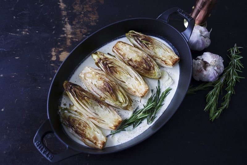 Buttery Braised Belgian Endive