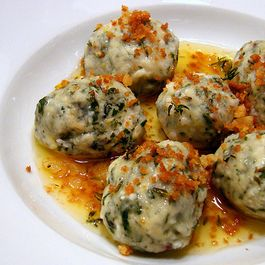 Gnudi with Lemon-Thyme Butter and Breadcrumbs