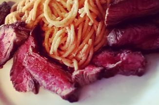 21738b53 0c95 4f5a acb1 4cd25dc0bbfb  03.26.2015 thai peanut butter spaghetti and flank steak