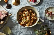 Stewed Cannellini Beans with Chorizo and Confit Rock Shrimp