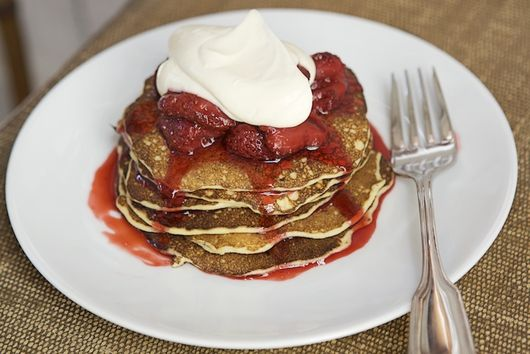 Cowgirl Creamery's Cottage Cheese Pancakes with Crème Fraîche