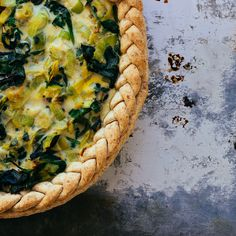 Spring time mixed greens tart