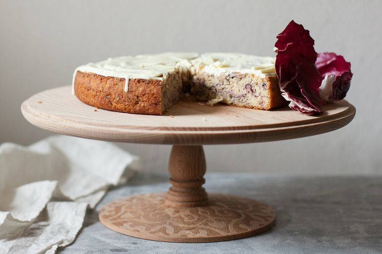 Torta di Radicchio (Radicchio Cake with White Chocolate Glaze)