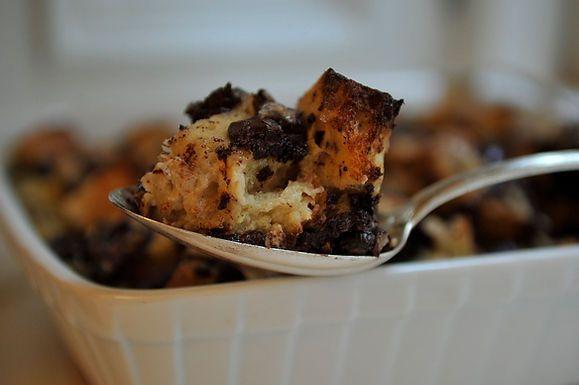 Bourbon Chocolate Bread Pudding